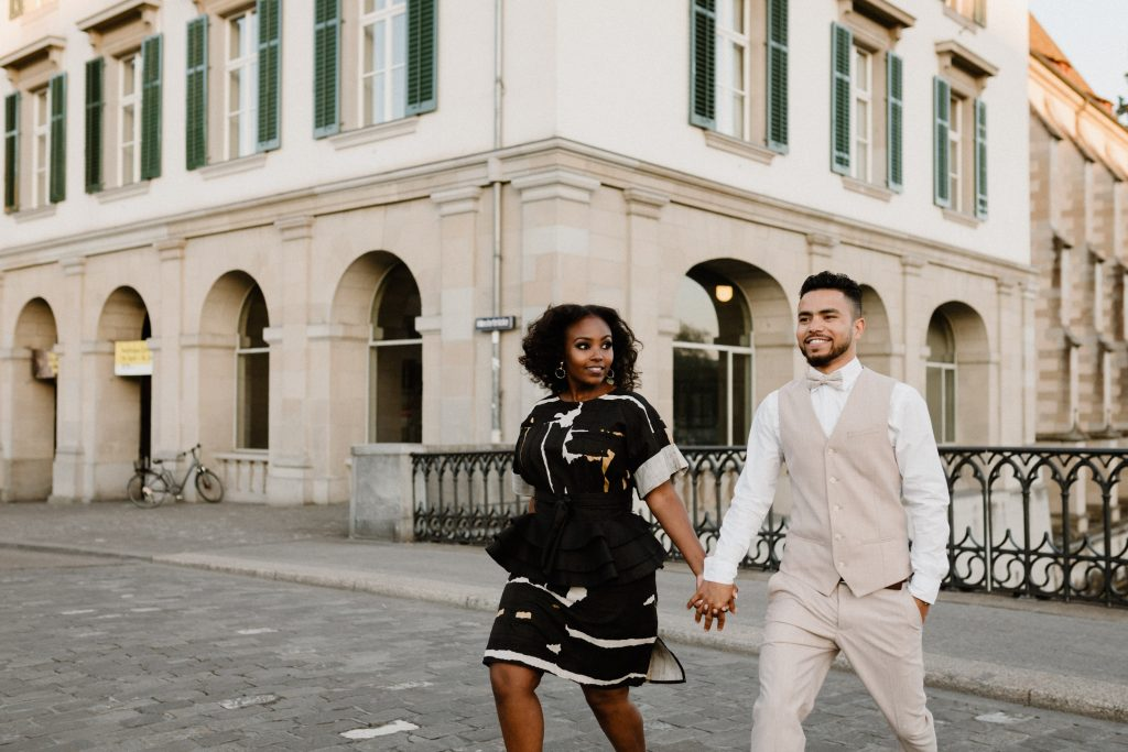 Old Town Zurich Engagement Session