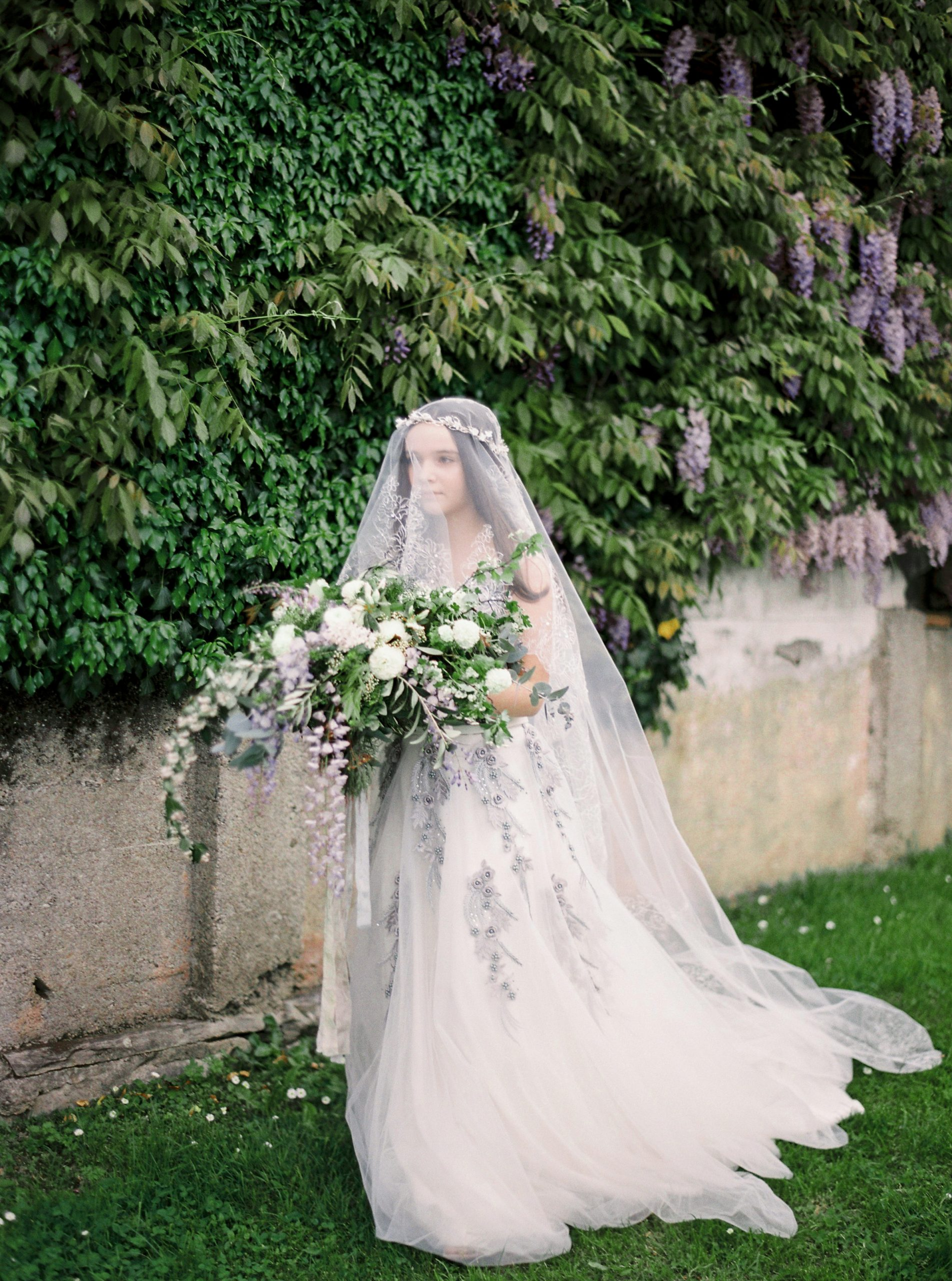 Wisteria Inspired Spring Bridal Shoot in Lugano