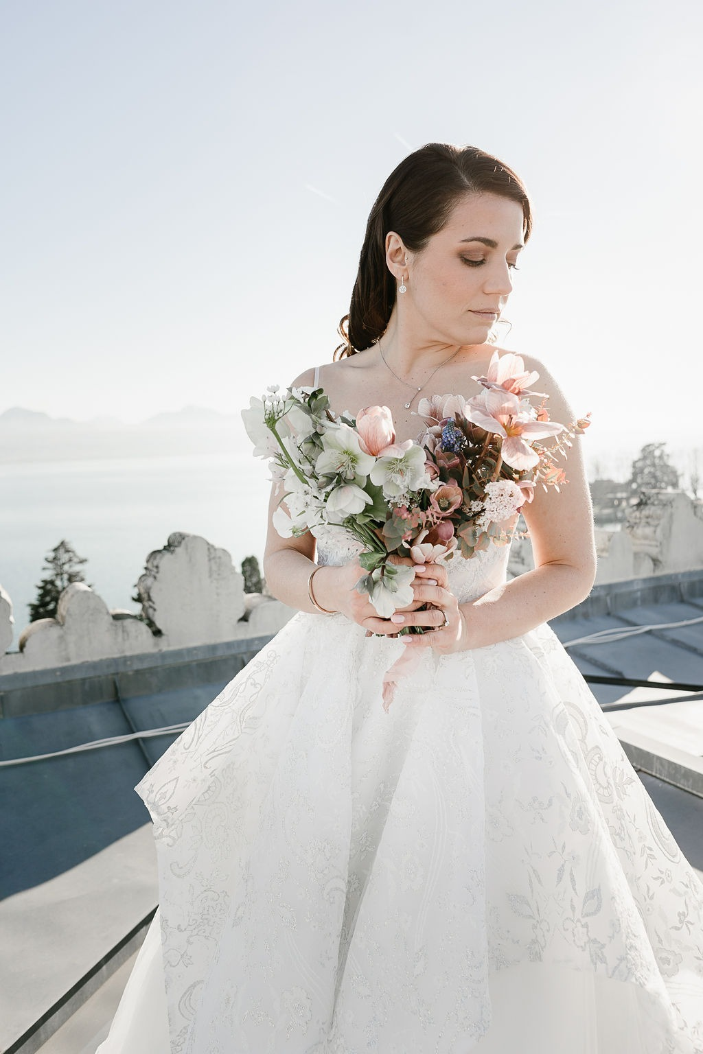 Rose Gold Bridal Style at Beau Rivage Palace Lausanne